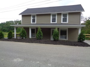 outside shot of a single unit for temporary workforce housing for oil and gas industry