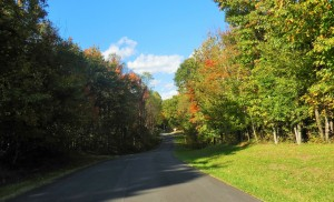 fall shot of the road to our campsite and extended stay facility for temporary workforce housing