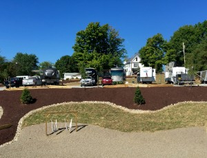 mobile home trailers and rv's parked at our facilities